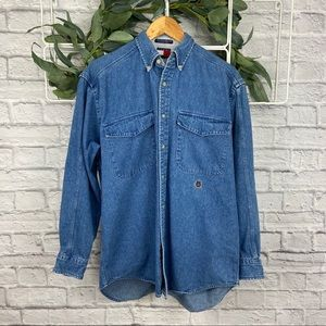 Tommy Hilfiger Vintage Denim Button Up Top